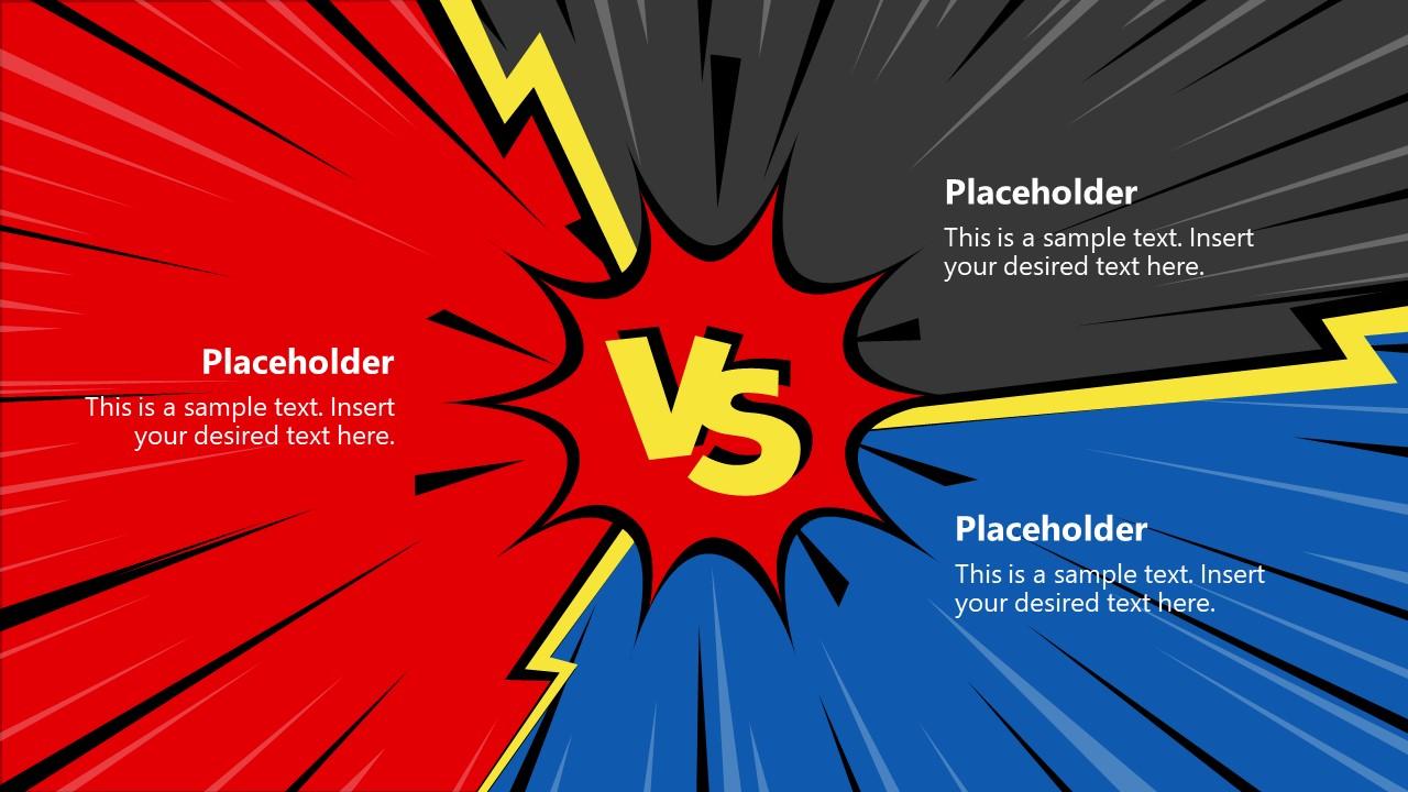 3 Item Versus Slide Comparison Template