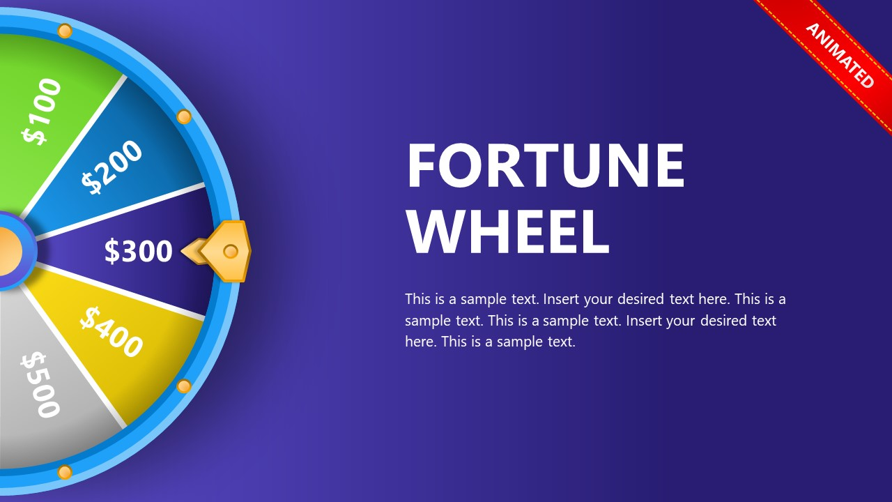 PowerPoint Animated Template Spin the Wheel