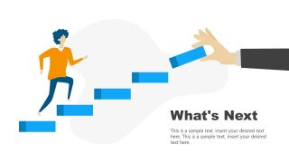 Whats Next Steps PowerPoint Diagram