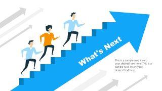 Arrow Stair Steps PowerPoint Diagram
