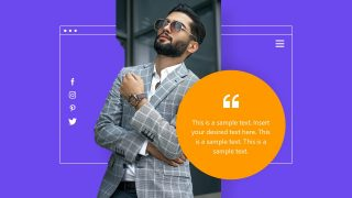 Template of Client Testimonial Business PPT