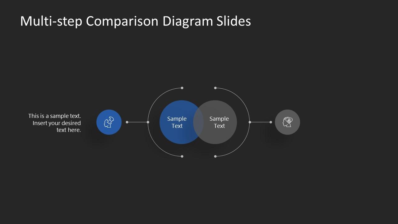 PowerPoint Template of Blue 1 Comparison Slide