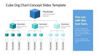 Organization Structure Cube Chart 3 Levels