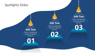 3 Steps Spotlight Template Hanging lights