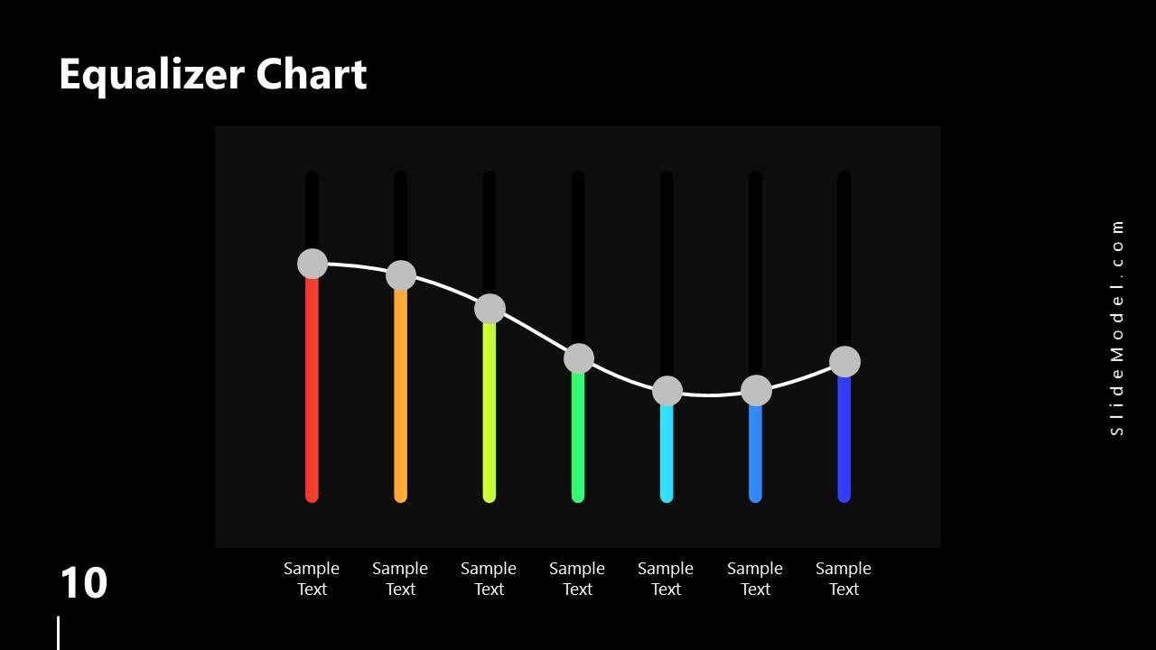 PowerPoint Equalizer Chart Slide Spectrum Design
