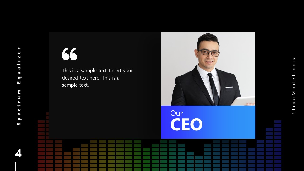PowerPoint CEO Quote Slide Spectrum Design