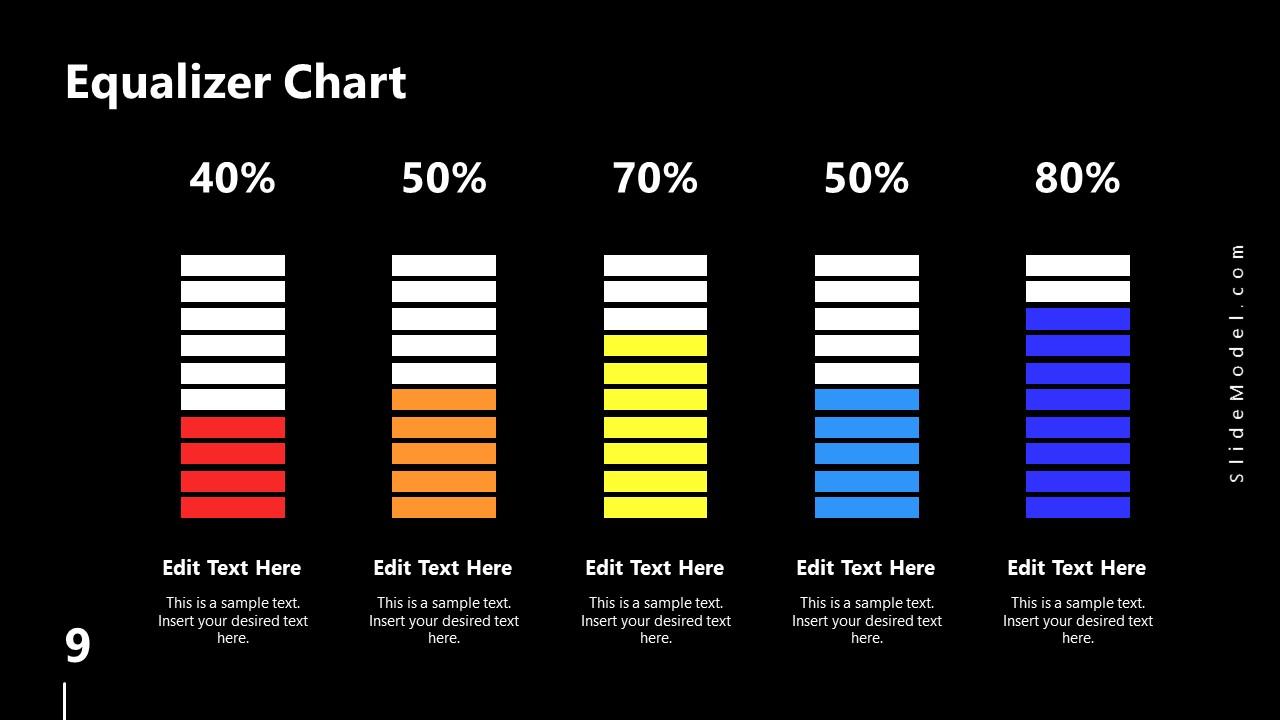 PowerPoint Equalizer Bars Slide Spectrum Design