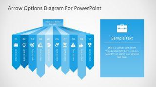 Presentation of 10 Segments Arrow Bars