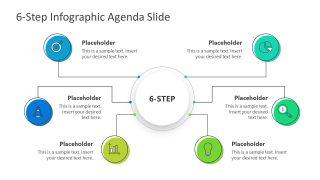 PPT Agenda Presentation 6 Steps Mind Map
