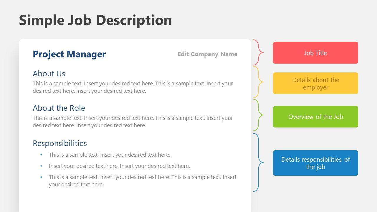 2 Page Job Description Template