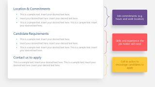 Slide of Job Description Template Design