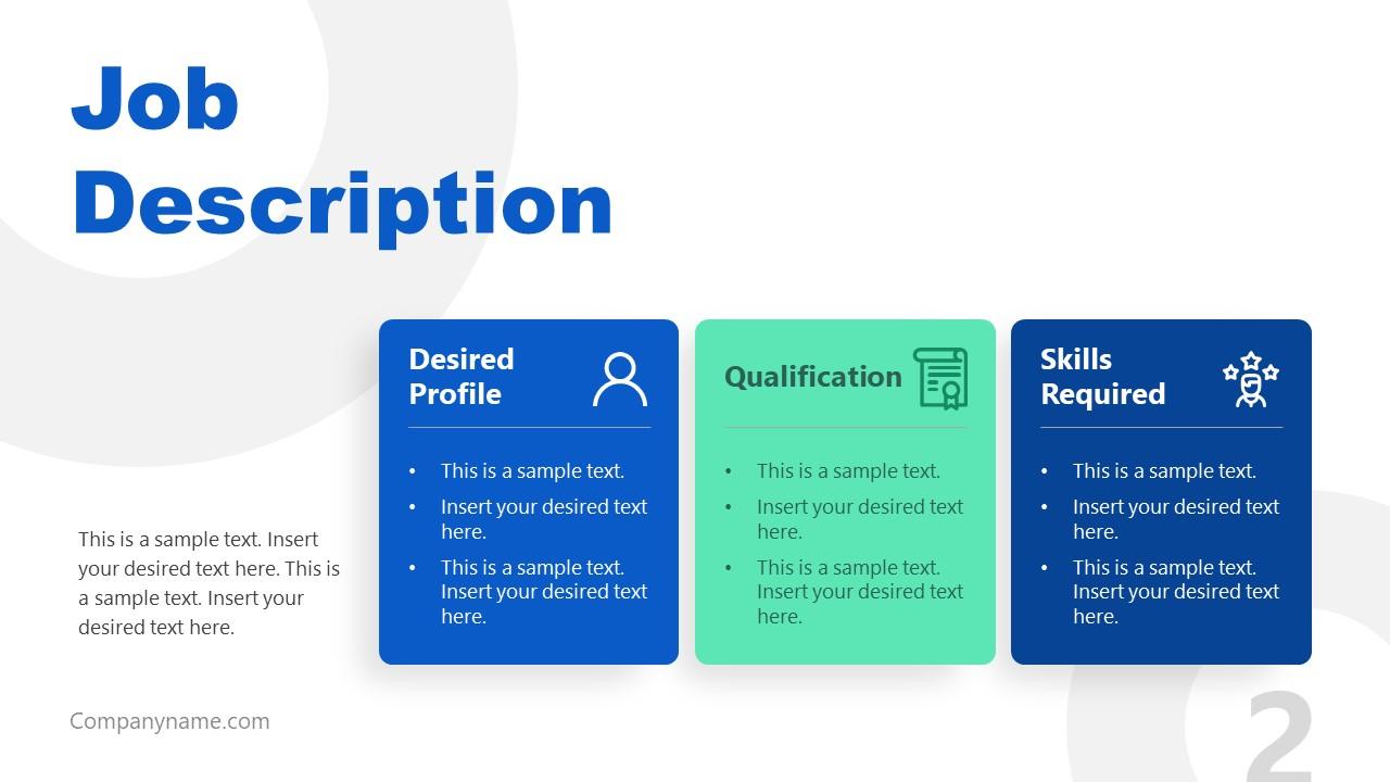 PowerPoint Job Description Overview PPT