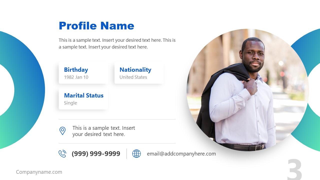 Presentation of Job Description Profile Name