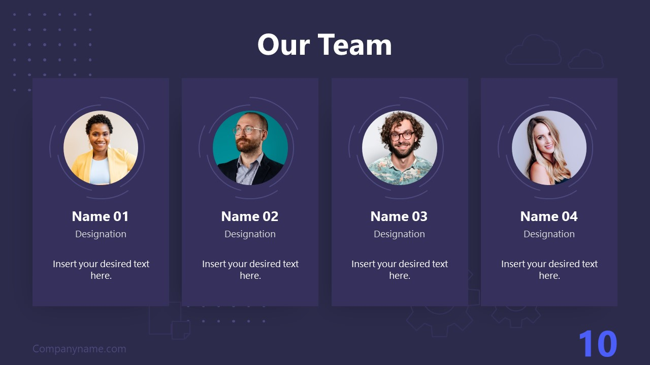 PPT Technology Proposal Our Team Template