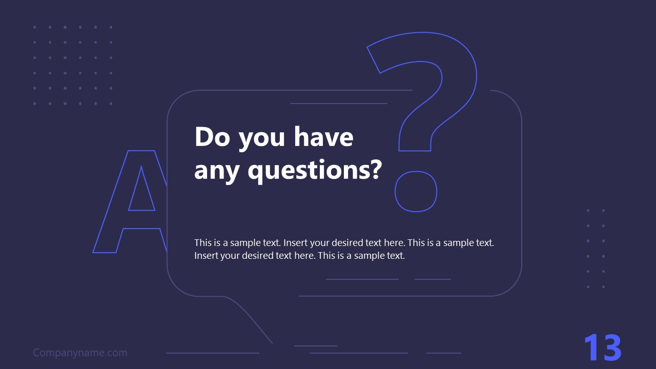 PPT Technology Proposal Q&As Template