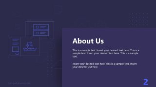 PPT Technology Proposal About Us Template