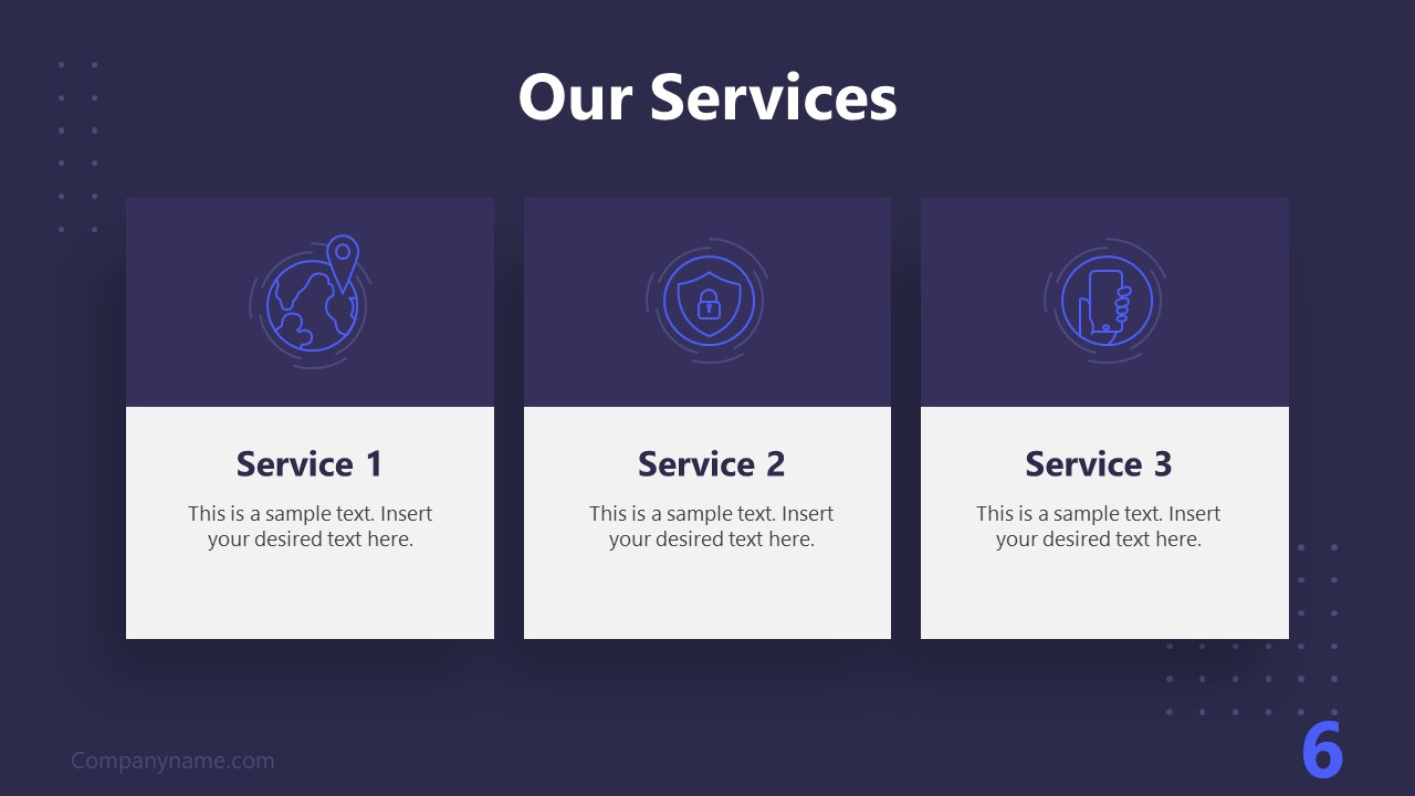 PPT Technology Proposal Our Services Template