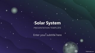 Space Background PowerPoint of Solar System