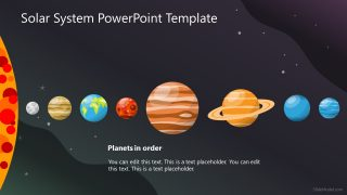 Solar System of Planets in PowerPoint
