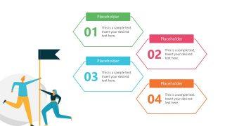 Template of 4 Steps Agenda Diagram