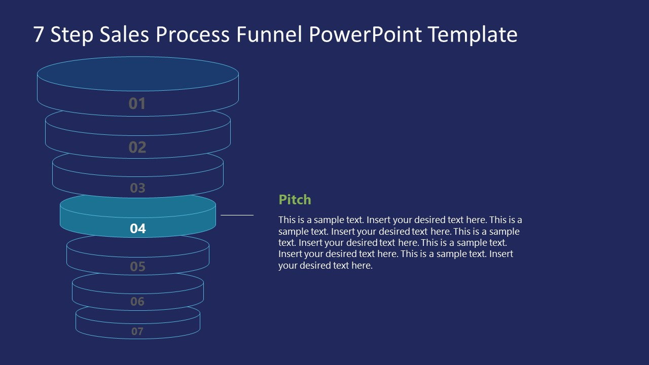 Funnel Sales Process Pitch Stage Template