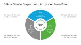 3 Arrows Circular Diagram Template