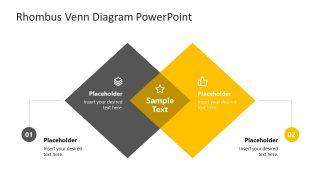 Rhombus Venn Diagram Slide of Labels