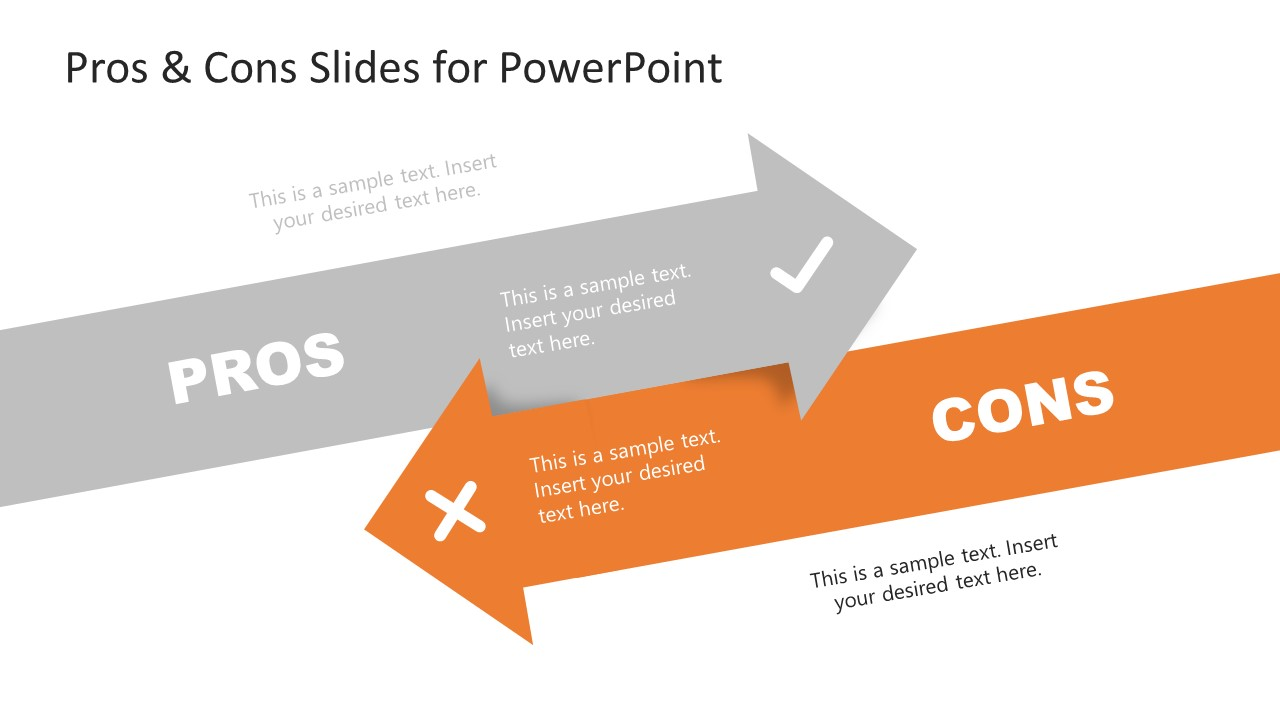 Slide of Cons in Pros and Cons PowerPoint