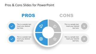 PPT 4 Steps Template for Pros