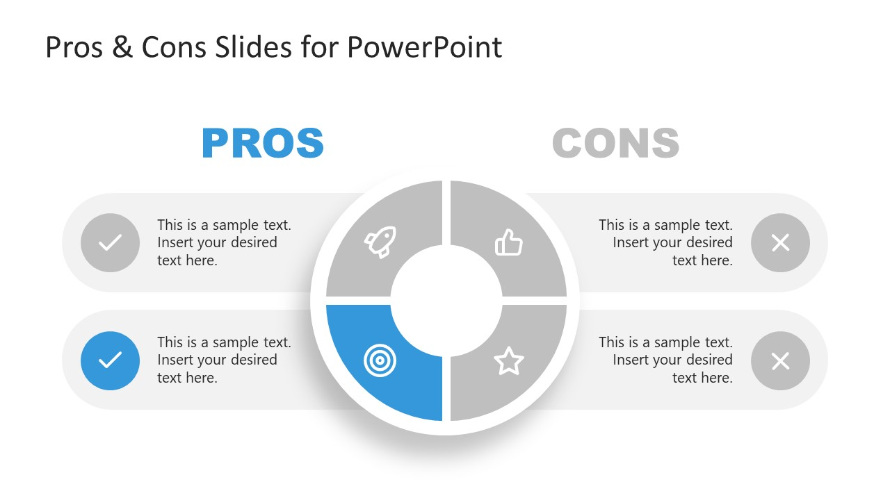 Presentation of 2 Advantage in Pros and Cons