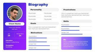 Client Sales PowerPoint Biography Template