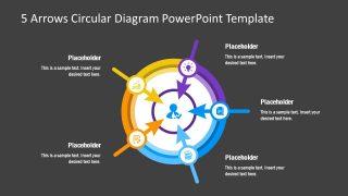 PowerPoint 5 Steps Arrows Diagram
