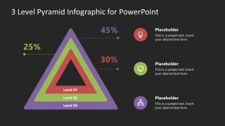 Concentric Triangles Pyramid Diagram PowerPoint