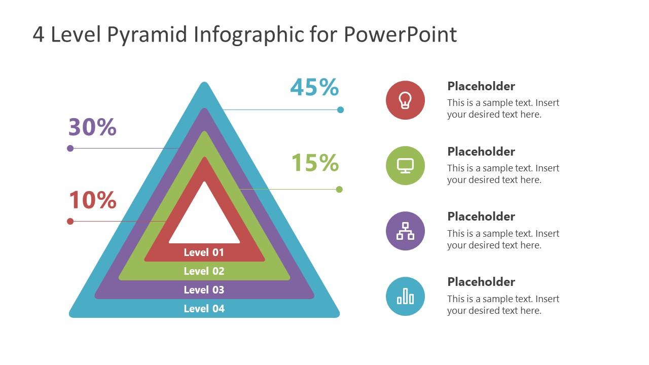 Presentation 4 Level Pyramid Diagram Template