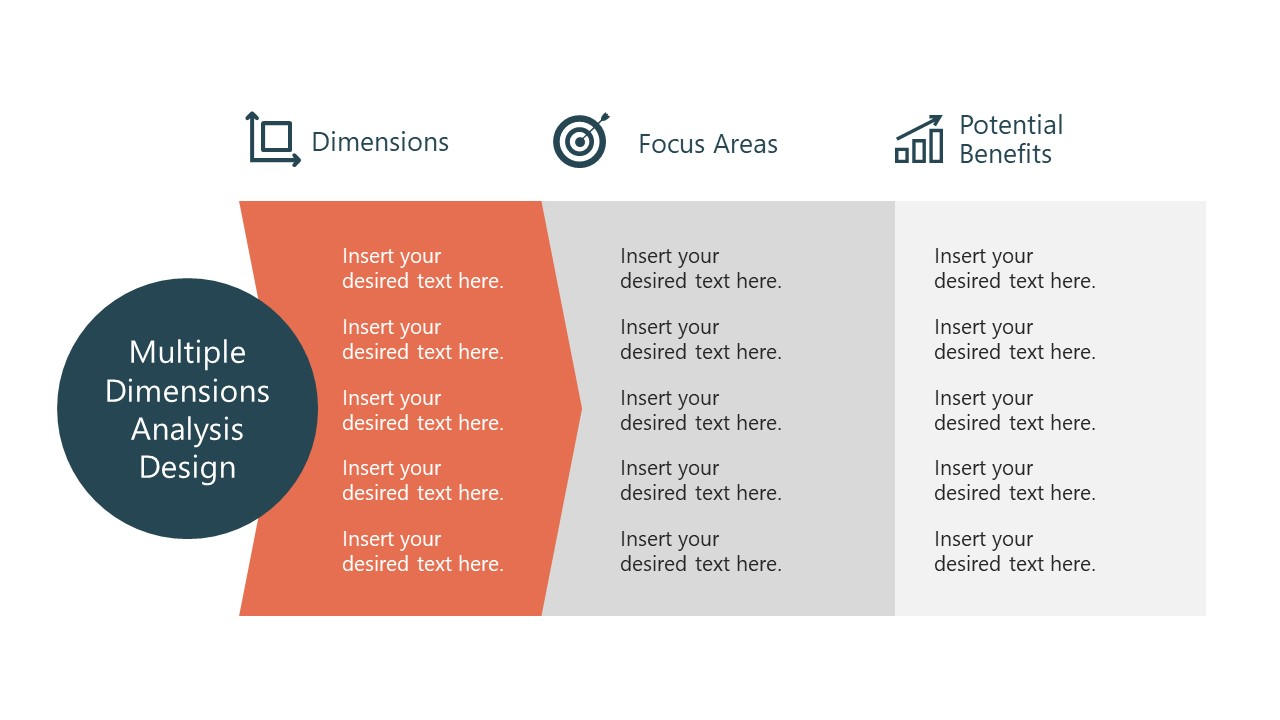 Dimension Focus Area and Benefits PowerPoint