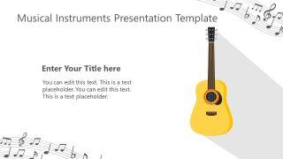 Guitar Musical Instrument Template