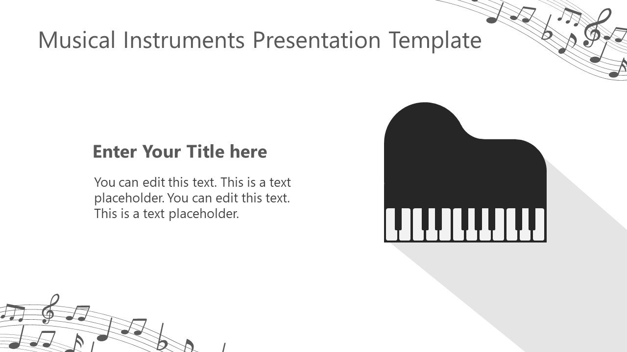 Piano Musical Instrument Template