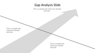 Line for Gap Analysis PPT Template