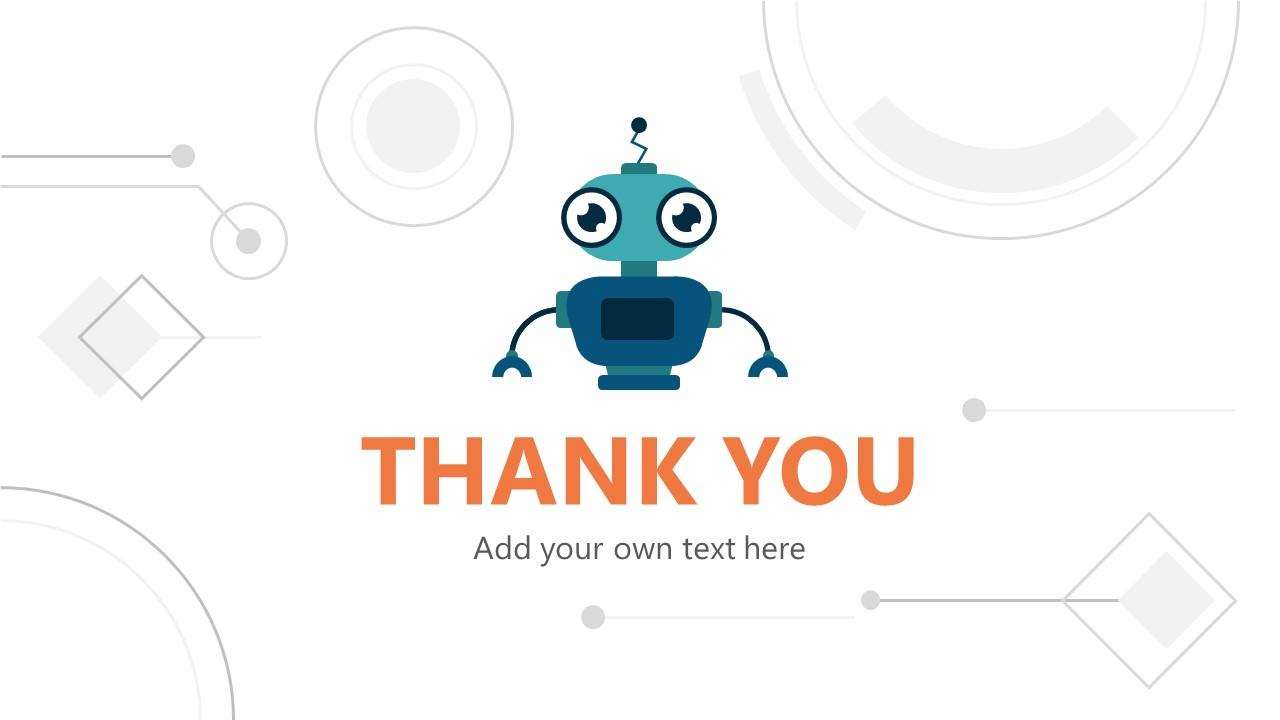 Robot Shape for Robo-Advisor Thank You
