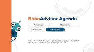 PPT Agenda Template for Robo-Advisor