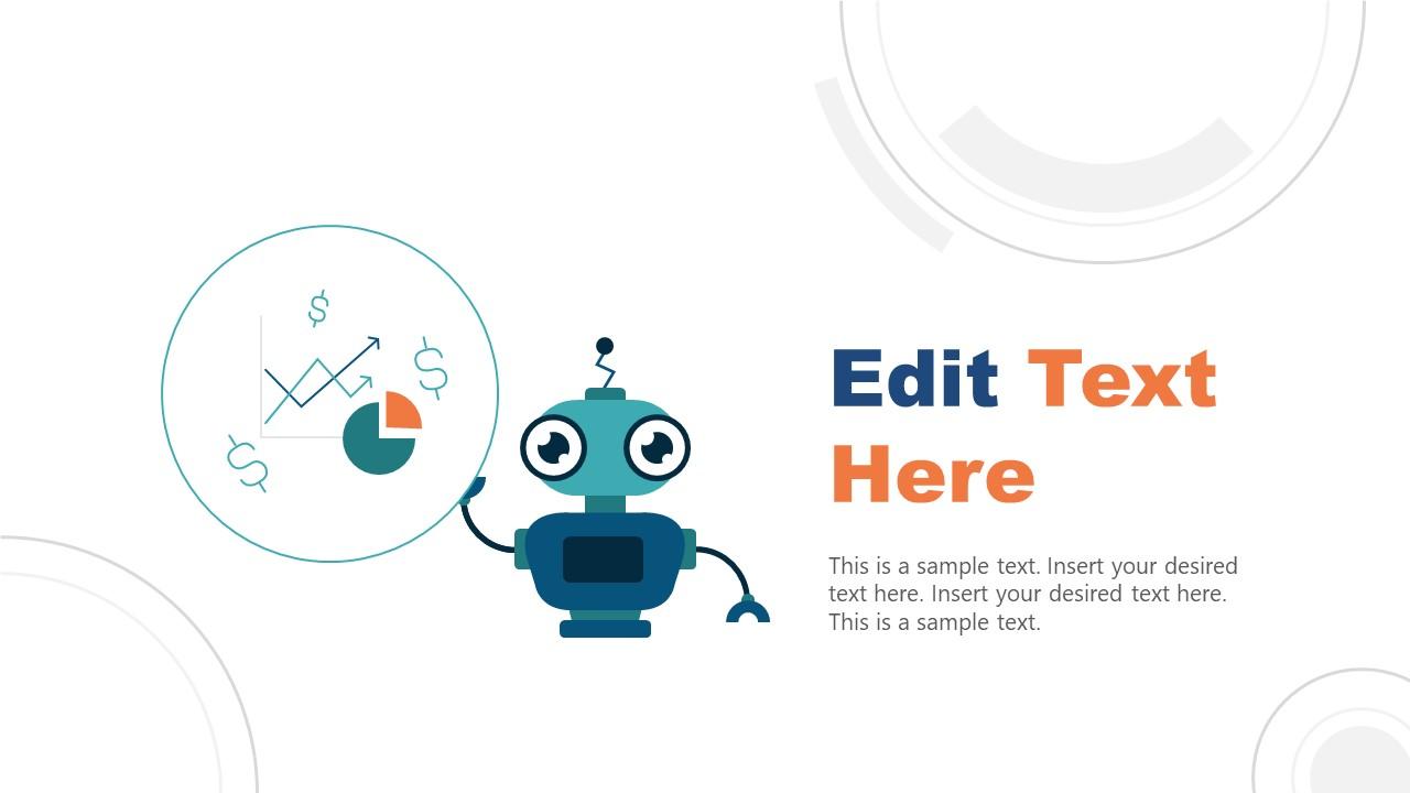 PPT Robo-Advisor Robot and Financial Icons