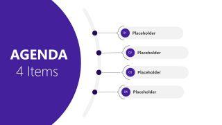 Presentation of 4 Steps Agenda PowerPoint
