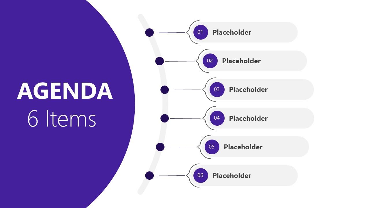 Presentation of 6 Steps Agenda PowerPoint