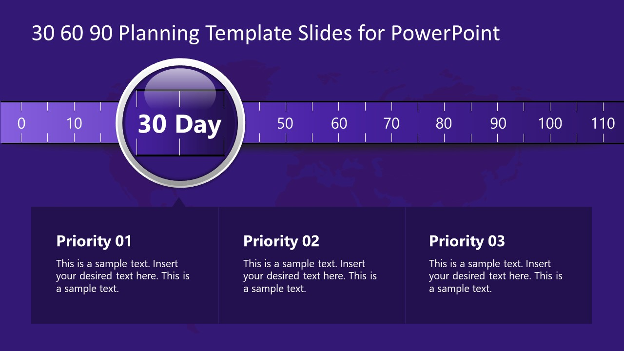 30 Days Scale Template Slide
