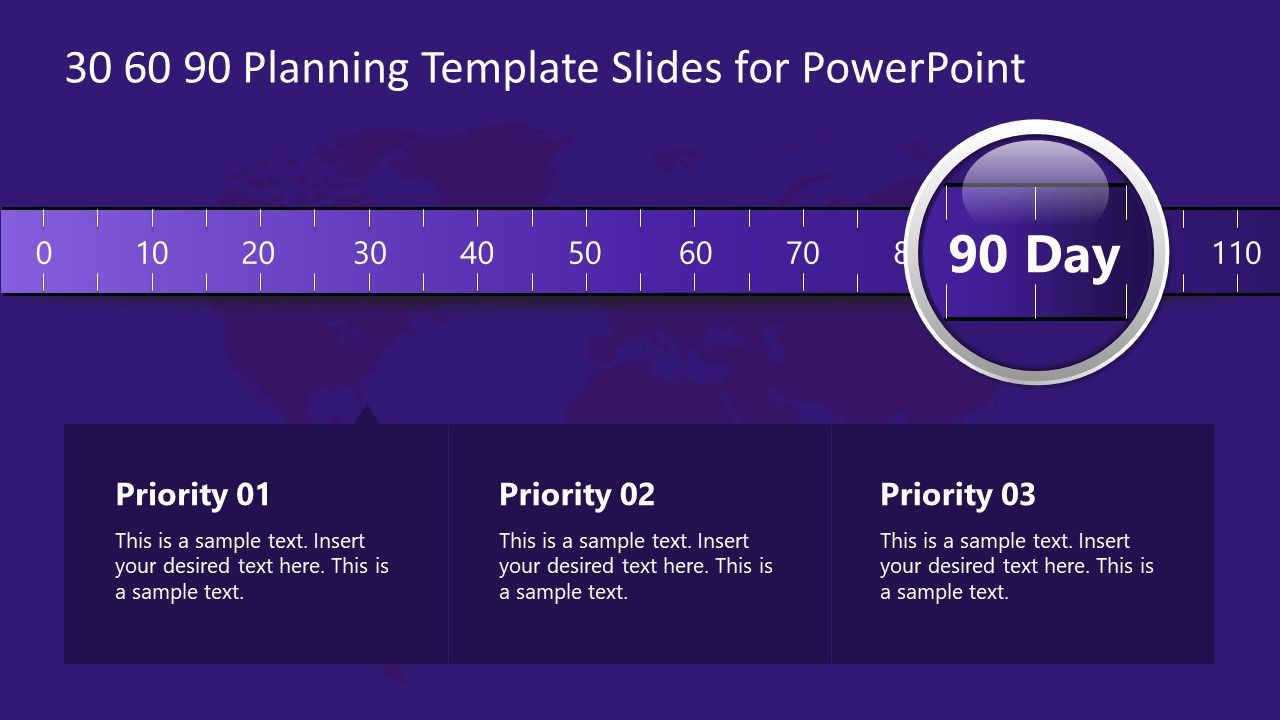 90 Days Scale Template Slide