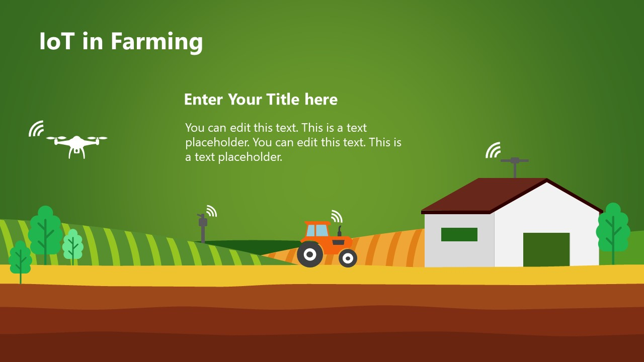 Scene of AGTech Farming Template
