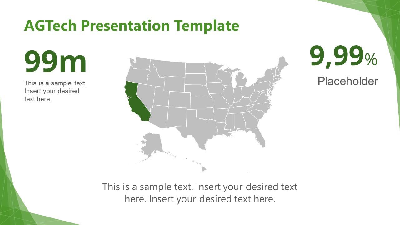 Green PowerPoint Theme AGTech Map