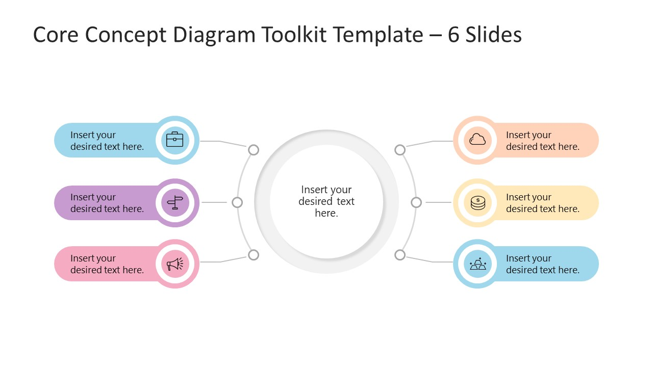 Core Concept Diagram Template Toolkit 6 Items