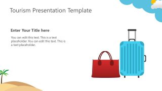 Travelling Concept Shapes Luggage PPT