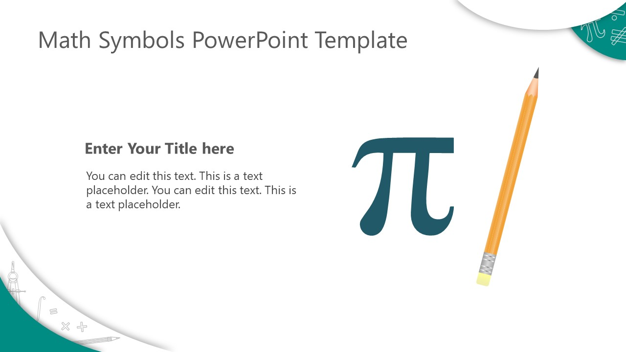PowerPoint Shapes of Math Symbols Pencil Clipart
